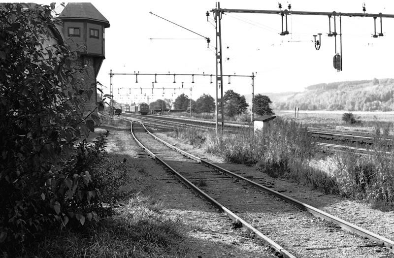 Vattentorn norr om stationen.